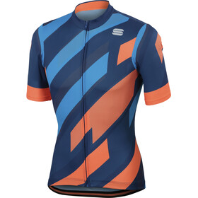 Sportful Volt Jersey Men twilight blue/electric blue/orange